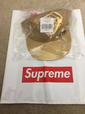 NEW SUPREME THE NORTH FACE METALLIC GOLD 6 PANEL HAT SS18 HAT CAP