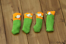 4 x orange & green chaise Mobilier Table Chaussettes pied jambe manches Couvre Protecteur