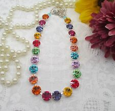 "Cup Chain necklace/Swarovski crystals/""Fiesta Muy Loca""/Colorful 12mm necklace"