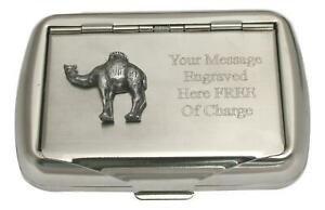 Camel Tobacco Tin Stainless Steel Personalised Smokers Gift 54