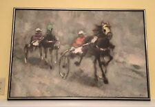 Painting Harness Horse Racing Trotters Pacers Koros