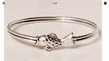 Vintage Tiffany and Co silver fish bangle with 24carat gold eyes