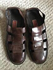 COLE HAAN Men's Brown Leather FISHERMAN Sandals 11 1/2M