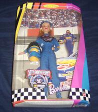"Mattel Toys Barbie 50th Anniversary Nascar 12"" Box Set 1998 Collector Ed New"