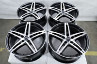 "17"" Wheels Mercedes C300 C350 E320 E350 E550 Audi A4 Allroad Black 5x112 Rims"