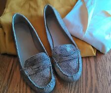 Faded Glory Faux Snakeskin Reptile Slip On Shoes Loafers EUC SZ 10