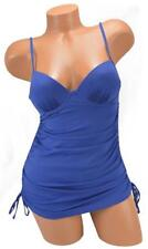 LOVE YOUR ASSETS by Sara Blakely Push Up Bra Blue One Piece Swimsuit  - S