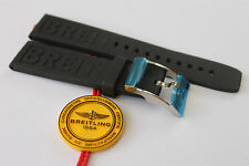 100% Genuine New OEM Breitling Black Caoutchouc Rubber Diver Pro 3 Strap 20-18mm