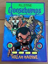 1996 R.L. Stine Goosebumps Electronic Scream Machine Scary Spooky Sounds Book