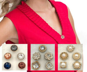 Pin Brooch Closure Clasp Holder Clip Together Cardigan Blouse Dress Shirt Scarf