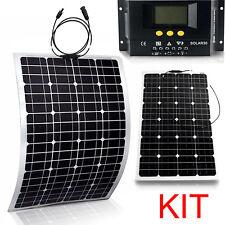 Flexible Solar Panel Kit Bendable 200W Monocrystalline Lightweight Marine RV 3pc