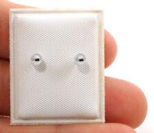 4mm Mini Sterling Silver Earrings for Little Girls