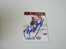 YVAN COURNOYER AUTOGRAPHED ESSO HOCKEY CARD-CANADIENS HOF