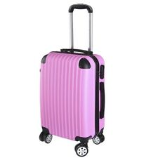 """20"""" Cabin Luggage Suitcase - Hard Shell Travel Case Carry On Bag Trolley Pink"""