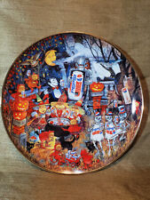 A Pepsi-Cola Halloween Plate Franklin Mint Collection #'d Limited Edition 1995