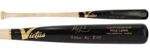 "KYLE LEWIS Autographed / Inscribed  ""2020 AL ROY"" Game Model Bat FANATICS"