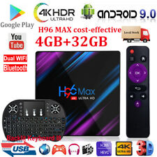 H96 MAX Android 9.0 Pie 4K 4+32G Keyboard I8 TV BOX Dual WiFi BT Quad Core 3D
