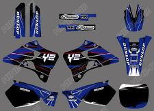 TEAM GRAPHICS BACKGROUNDS DECALS FOR YAMAHA YZ125 YZ250 1999 2000 01 X