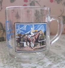 SANTA ANITA PARK HORSE RACING GLASS COFFEE OR TEA MUGS GREAT MOMENTS