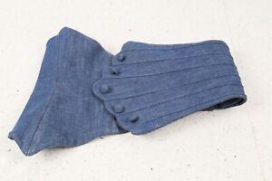 Unbranded Blue Denim Wide Button Waist Belt Size XS - S