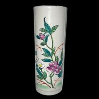"Vintage Otagiri White Iris Vase Made in Japan White Floral Bud Vase Flowers 9""H"