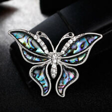 Lovely Women Rhinestone Butterfly Insect Metal Brooch Lapel Pin Fashion Gift