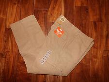 NWT Mens DOCKERS Comfort Cargo Classic Fit Khaki Flat Front Pants 34 W 30 L