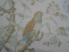 Lee Jofa Curtain Fabric 'Somerfield' 3.5 METRES (350cm) Gold/Lake - Linen Blend