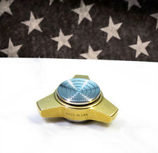 NO Bearing, Size R188 Mini Tri Fidget Spinner, w/ FLPC Buttons... Made in USA!