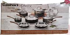 Cuisinart Onyx Stainless Steel Cookware Pan Set 12 Piece Black MBS7-12