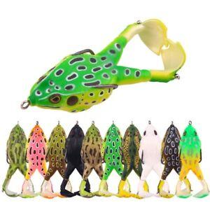 10PCS 8.4g-16.6g/9cm Fishing Propeller Thunder Frog Double Hook Lure Crank Bait