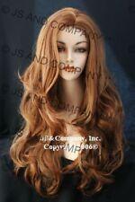 Super Long Layered WAVY Strawberry Blonde Mix WIG WAAS 27c29 hair peice NWT
