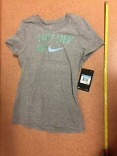 "Nike TShirt Girls Tee Youth ""Can't Stop Me"" A03025-063 Medium NWT $18"