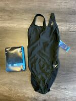 Speedo Women's Pro LT Super Pro Black Size 10/36 Competitive Swimsuit