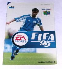 Original Anleitung / manual zu dem Nintendo 64 Spiel FIFA 99