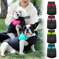 Waterproof Puppy Small Dog Clothes Winter Chihuahua Coat Bulldog Jacket S-7XL