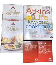 Lot Atkins For Life Cookbook Low Carb Recipes Quick start Guide Carb Counter boo