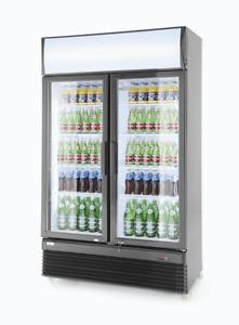 Display Kühlschrank Doppeltür   Dreifache Verglasung   1120x595x(h)1965mm