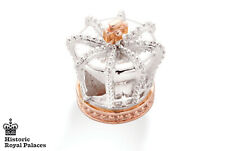NEW Official Welsh Clogau Silver & Rose Gold Crown Bead Charm £50 off!
