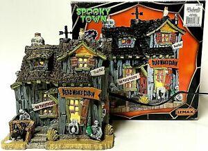 Lemax Spooky Town Light-Up Dead Mans Cabin Halloween Village Retired 45676