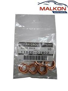 10 x Sump Plug Drain Washers 1102601M02 for Nissan Patrol Pathfinder
