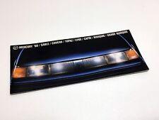 1986 Mercury Sable Cougar Grand Marquis Capri Marquis Topaz Full Line Brochure