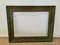 "Vintage Hand Carved Large Wood Picture Frame - 30""x24"""