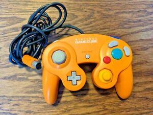 Original Nintendo GameCube Orange Spice Controller OEM Official Good Condition !