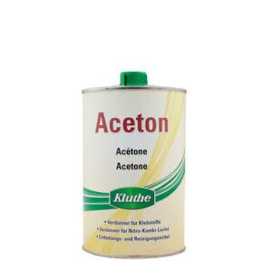 (10,99€/ L) Kluthe Aceton 1L, Reiniger, Entfetter, Verdünner