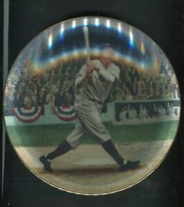1992 Babe Ruth: The Called Shot Yankees Bradford Ex. Collectors Plate MINT W/COA