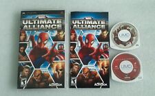 Marvel: Ultimate Alliance (Sony PSP, 2006) Complete With Manual + Spiderman 2 mv