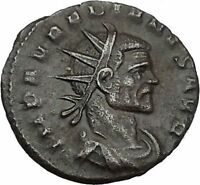 Aurelian with CLAUDIUS II Portrait 270AD Ancient Roman Coin  Fides i45103 RARE
