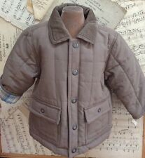 JANIE AND JACK Cocoa Powder Brown QUILTED Barn Coat JACKET 6 12 m mo LN $80