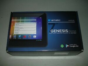 Ematic Genesis Prime Tablet 4GB, Wi-Fi, 7in Black, Open Box, Brand New